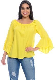 Blusa Ciganinha B'Bonnie Viscose Ligya Amarelo