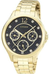Relógio Analógico Tz28360U- Dourado & Preto- Citizencitizen