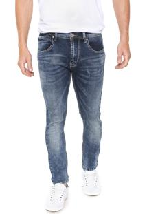 Calça Jeans Crocker Skinny Acid Azul