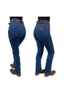 Calça Jeans Feminina Carpinteira Race Bull Delavê Ref:022 Dv