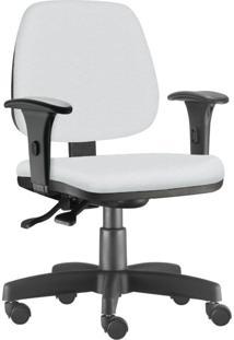 Cadeira Giratória Executiva Lyam Decor Job Corino Branco