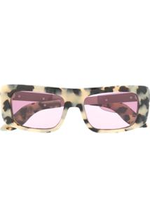 Marni Eyewear Óculos De Sol De Oncinha - Neutro