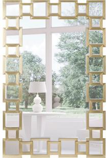 Espelho Decorativo Pavia 67X104 Cm Dourado