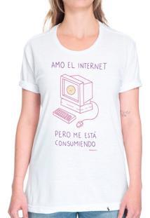 Amo El Internet - Camiseta Basicona Unissex