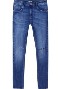 Calça John John Skinny Humos Masculina (Jeans Escuro, 44)