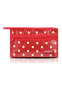 Necessaire Envelope Bolinha Vermelho Jacki Design
