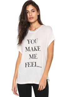 Camiseta Ana Hickmann You Make Me Feel Off-White