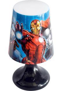 Abajur Avengers®- Azul & Vermelho- 18,5Xø10Cm- Eetilux