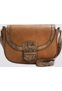 Bolsa Saddle Snake Le Postiche (Caramelo, Único)