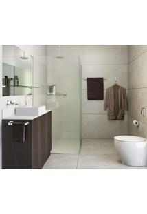 Porta Shampoo Inox Premium Pr4010 Vidro Ducon Metais Preto