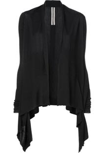 Rick Owens Loose Fit Cardigan - Preto