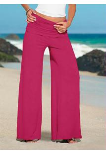 Calça Pantalona Rosa Pink