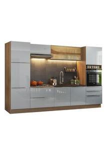 Cozinha Completa Madesa Lux Com Armário E Balcão Rustic/Cinza Rustic