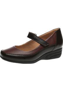 Sapato Anabela Doctor Shoes 3144 Marrom