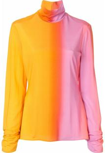 Ellery Blusa Mangas Longas Tie Dye - Amarelo