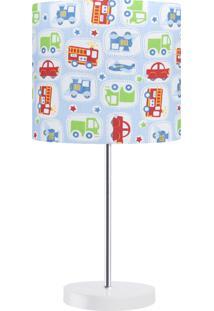 Abajur Infantil Carambola Corre Corre 01 Azul Claro
