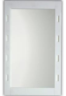 Espelho De Parede Com Moldura Vazada 60X45Cm Branco