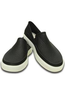 Slip On Crocs Citilane Roka Original Black Masculino - Masculino-Preto