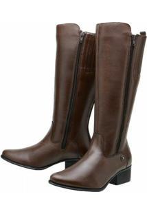 Bota Art Shoes Montaria - Feminino-Marrom