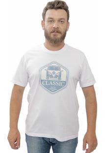 Camiseta Cheiro De Gasolina Kombi Classic Branca