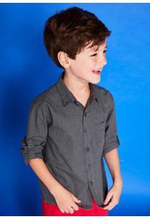 Camisa Infantil Menino Com Mangas Longas Em Tecido Especial De Algodão - Cápsula Celebra Puc