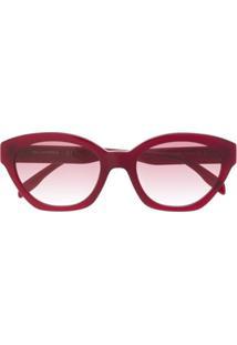 Karl Lagerfeld Óculos De Sol Ikonik Karl Retro - Vermelho