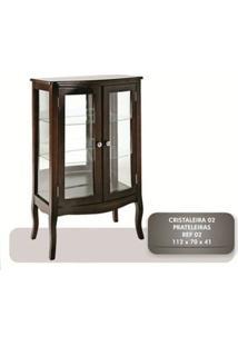 Cristaleira 2 Portas + 2 Prateleiras Com Vidro - Tommy Design