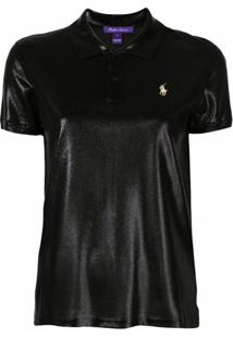 Ralph Lauren Collection Camisa Polo Com Efeito Brilhante - Preto