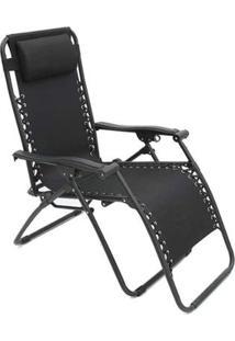 Cadeira Espreguiçadeira Pelegrin Pel-002Z Gravidade Zero Em Tecido E Metal - Unissex