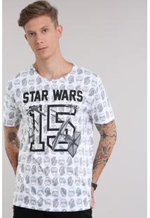 Camiseta Estampada Star Wars Branca