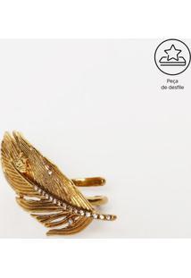 Anel Pena Com Pedrarias - Dourado - 5,5X2,5X6Cmversace
