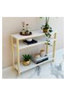 Aparador Natural & Colors 3 Prateleiras Brancas Único