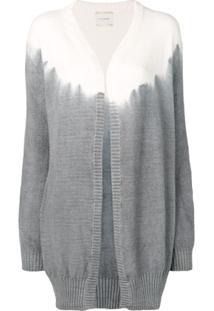 Fine Edge Cardigan Com Detalhe Tie - Branco
