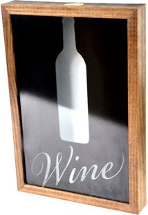 Quadro Porta Rolhas Prolab Wine Tabaco - Branco/Marrom/Preto - Dafiti