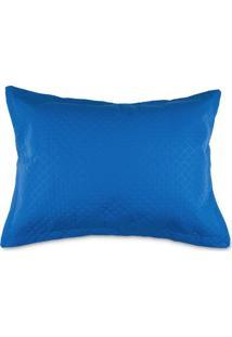 Porta Travesseiro 50X70Cm Matelado Solecasa Azul