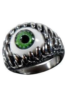 Anel Kodo Acessórios Olho Mandibula Prata