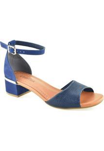 Sandalia Salto Quadrado Usaflex Y5402