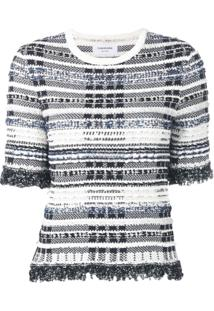 Thom Browne Blusa De Tweed - Azul