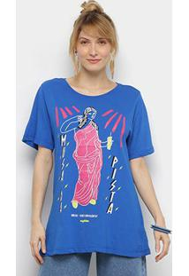 Camiseta Cantão Musas Contemporâneas Manga Curta Feminina - Feminino