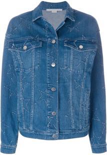 Stella Mccartney Jaqueta Jeans 'Estrelas' - Azul