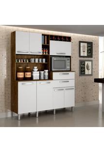 Cozinha Compacta Monte Rey 7 Pt 2 Gv Ipê E Branca