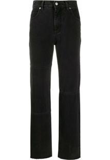 Pringle Of Scotland Calça Jeans Reta Cintura Alta - Preto