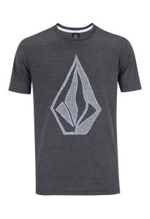 Camiseta Volcom Silk Creep Stone - Masculina - Preto