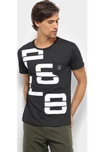 Camiseta Polo Rg 518 Gola Careca Masculina - Masculino-Preto