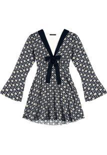 Vestido Manga Longa Estampado Handusi - Lez A Lez