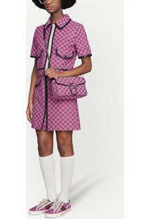 Gucci Small Gg Marmont Multicolor Shoulder Bag - Rosa