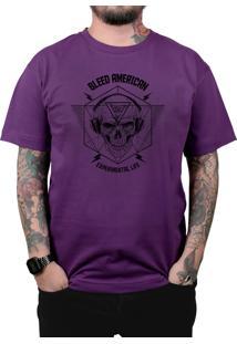 Camiseta Bleed American Experimental Roxo