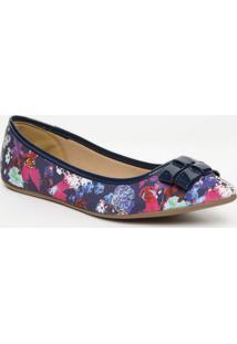 Sapatilha Floral- Azul Marinho & Pinkcarmen Steffens