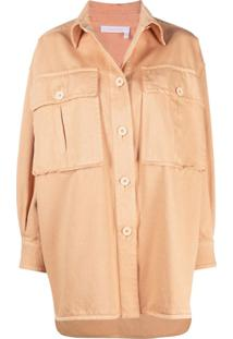See By Chloé Jaqueta Oversized - Neutro