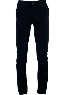 Calça Ralph Lauren De Sarja Chino Stretch Slim Fit Marinho - 1086